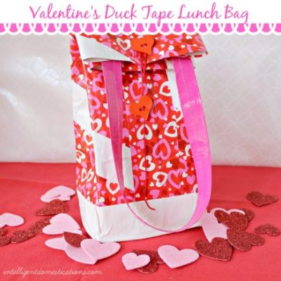 DIY Valentines Duck Tape Lunch Bag