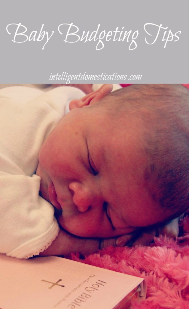 Baby Budgeting Tips at www.intelligentdomestications.com