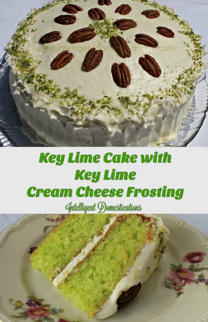 Key Lime Cake With Cream Cheese Frosting And Pecans