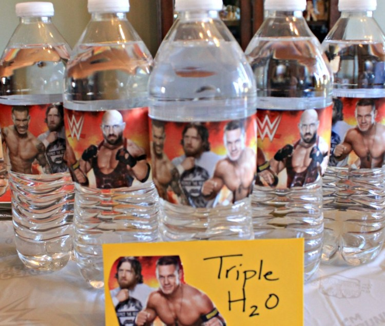 WWE Theme Party Ideas with recipes and decor. WWE Party. Serve your guests some Triple H2O at your WWE Theme party.intelligentdomestications.com