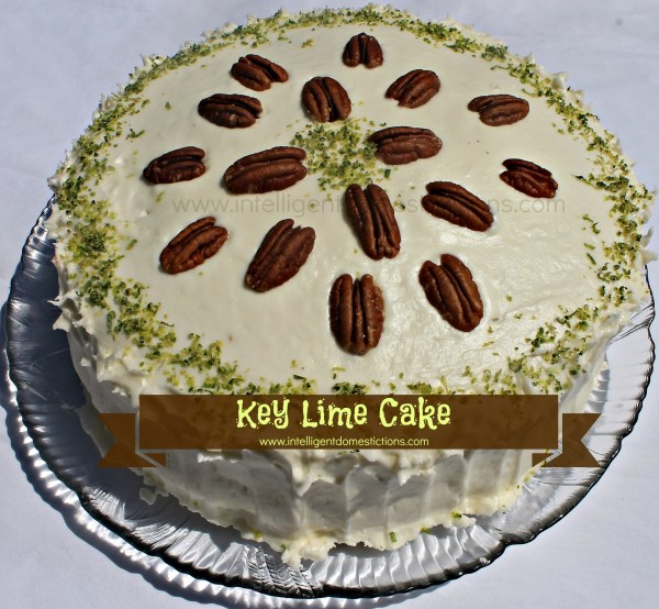 Key Lime Cake with Key Lime Cream Cheese Icing