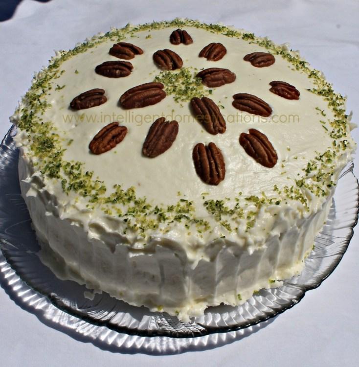 Stacy's Key Lime Cake recipe at www.intelligentdomestications.com