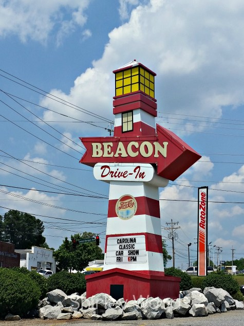 Beacon Drive In Iconic Lighthouse sign.Photo by Shirley Wood