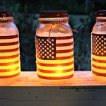 Frosted Mason Jar Patriotic Luminaries.Celebrate the U.S.A.intelligentdomestications.com
