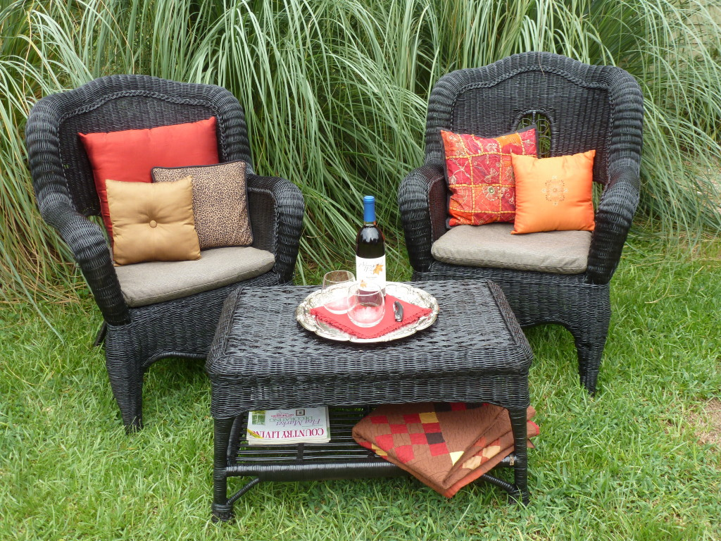 Wicker Furniture Makeover