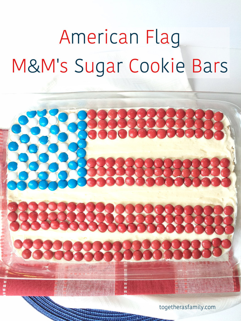 American Flag Cake Sugar Cookie Bars