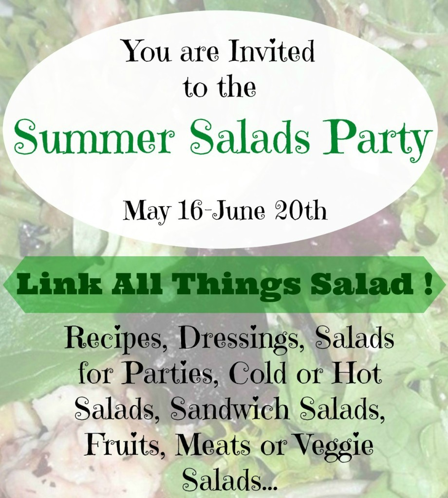 Summer Salads Party Popular graphic