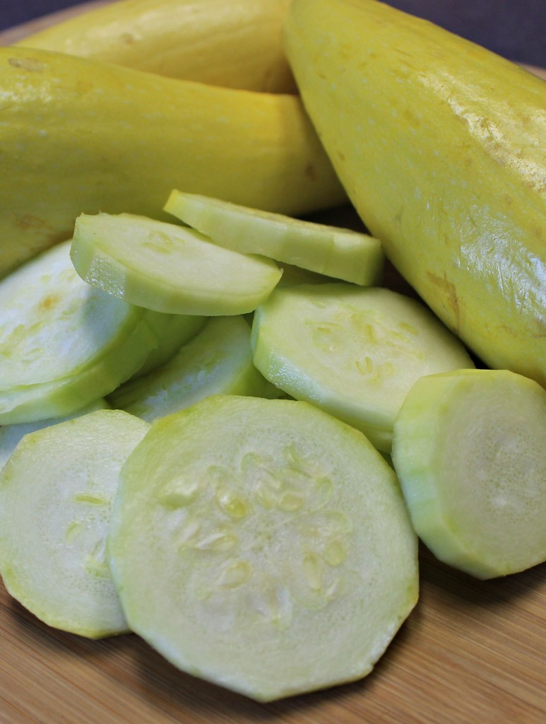 Fresh cut Yellow Summer Squash
