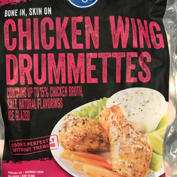 A bag of bone in, skin on Chicken Wing Drummettes