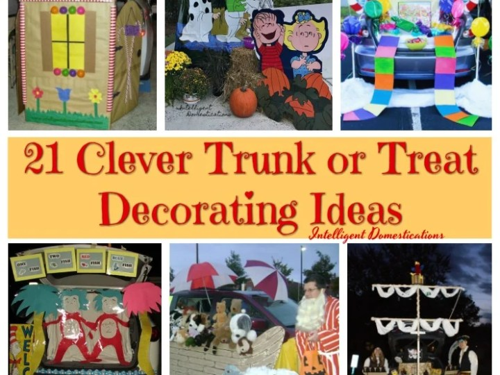 21 Clever Trunk or Treat Decorating Ideas to DIY. #trunkortreat