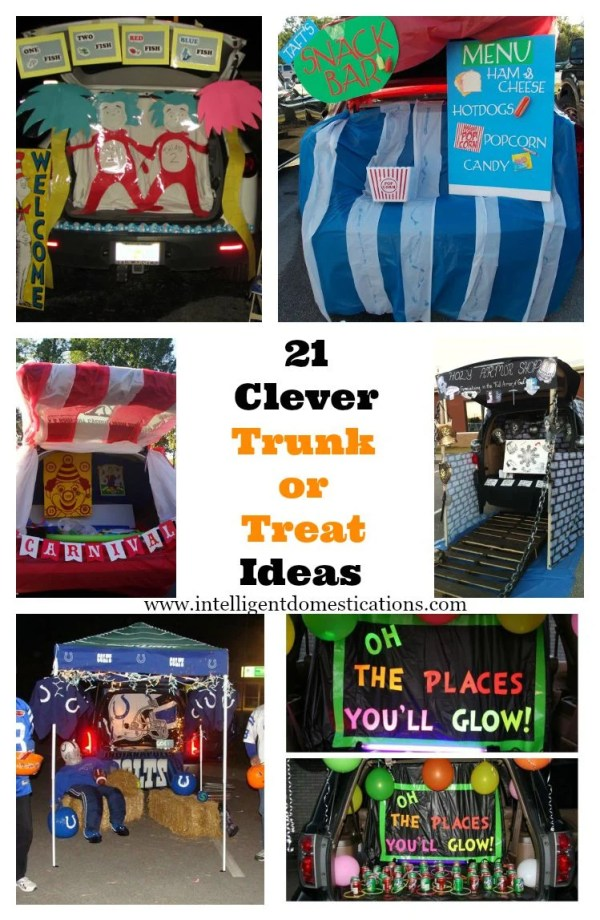 21 Clever Trunk or Treat Ideas. Creative ideas for designing your Trunk or Treat for the Fall Festival at your Church or your Halloween Event. #TrunkorTreat #HarvestFestival #Halloween #TrickorTreat
