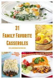 31 Family Favorite Casseroles found at www.intelligentdomestications.com
