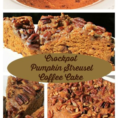Crockpot Pumpkin Streusel Coffee Cake