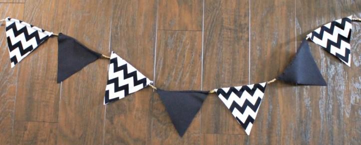 Easy DIY No Sew Banner.www.intelligentdomestications.com