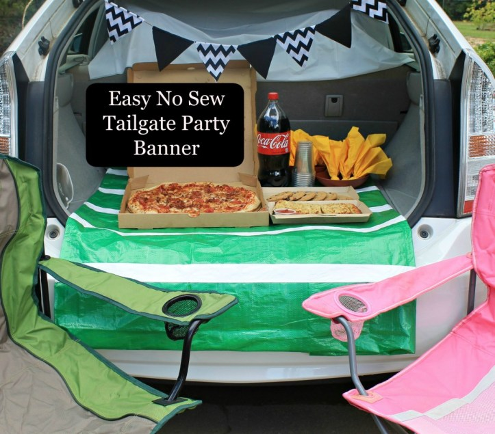 Easy No Sew Tailgate Party Banner how to.www.intelligentdomestications.com