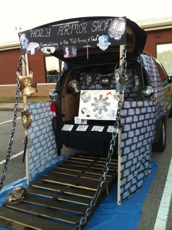 The Armour of God Trunk or Treat theme. Trunk or Treat Ideas. Trunk or Treat