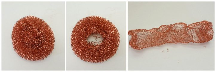 Copper pot scrubber deconstructed