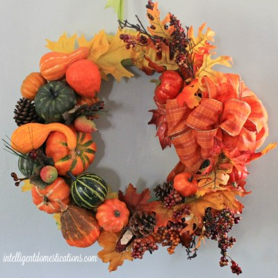 DIY Cornucopia Wreath