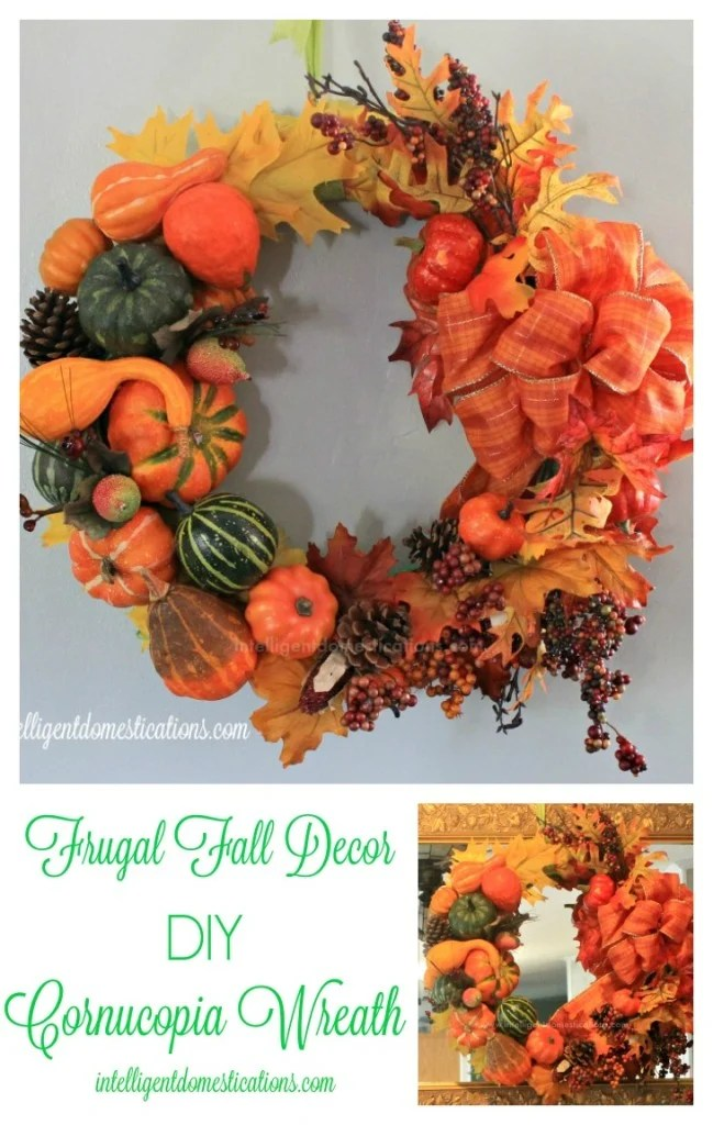 DIY Cornucopia Wreath.intelligentdomestications.com