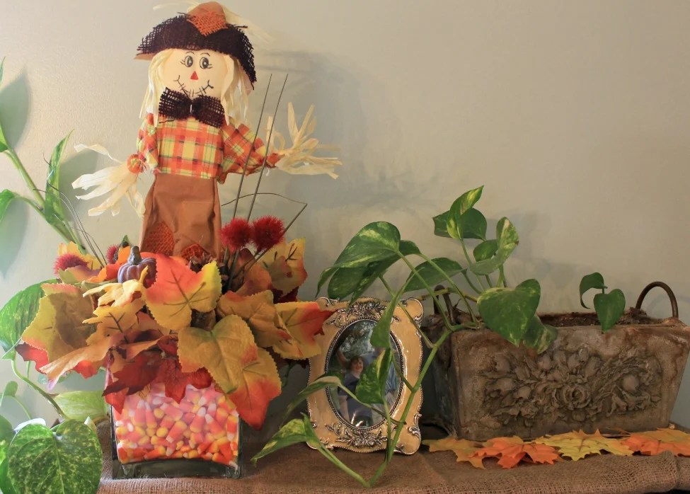 Fall Decor on the book cabinet.Fall home tour 2015.intelligentdomestications.com