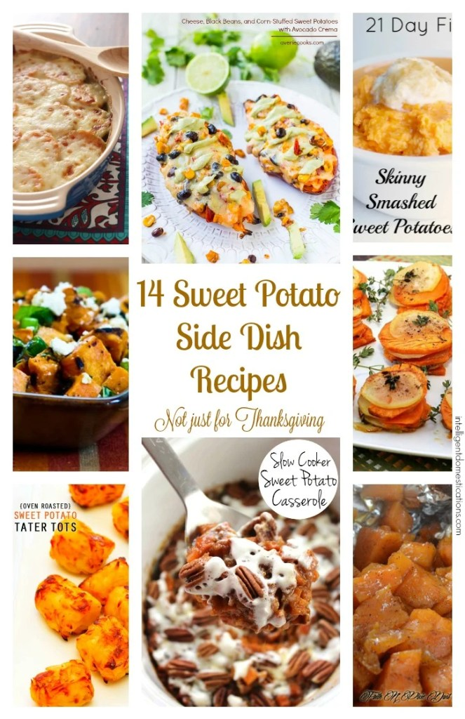 14 Sweet Potato Side Dish Recipes Not Just for Thanksgiving at intelligentdomestications.com