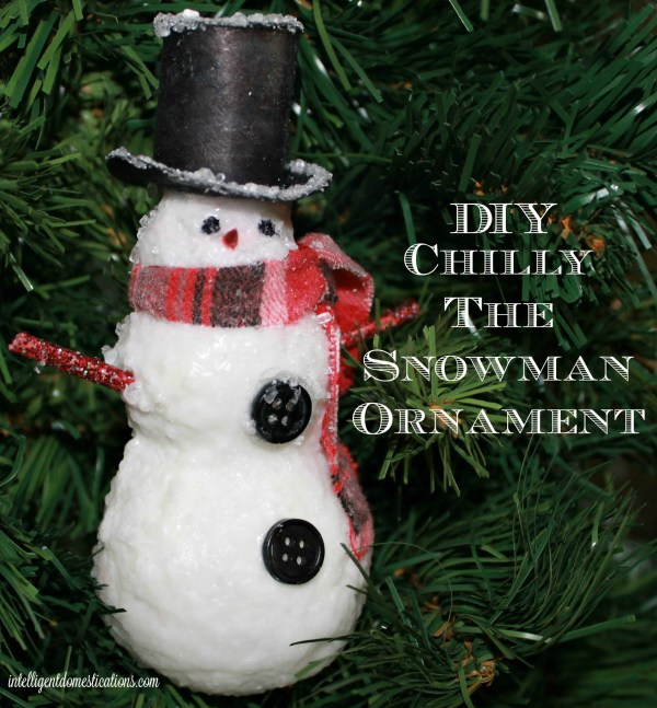 DIY Chilly The Snowman Ornament. How to make a snowman ornament