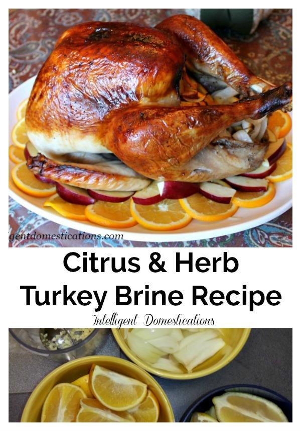 How to Brine a Turkey. Citrus and Herb Brine recipe for your Thanksgiving Turkey. #turkeybrine #ThanksgivingTurkey