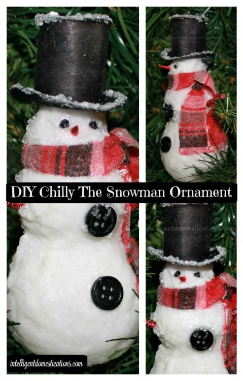 DIY Chilly The Snowman Ornament.intelligentdomestications.com