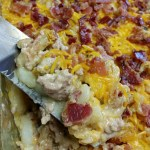 Jazzed up meat and potato casserole 7