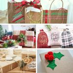 5 pictures of wrapped Christmas gifts in pretty wrapping