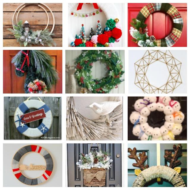 12 Unique Christmas Wreaths & Link Up
