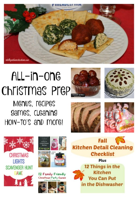 All In One Christmas Prep including menus, recipes, games, cleaning tips and more