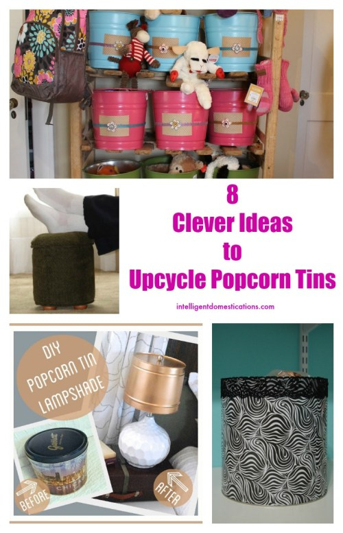 Clever Ideas to Upcycle Popcorn Tins