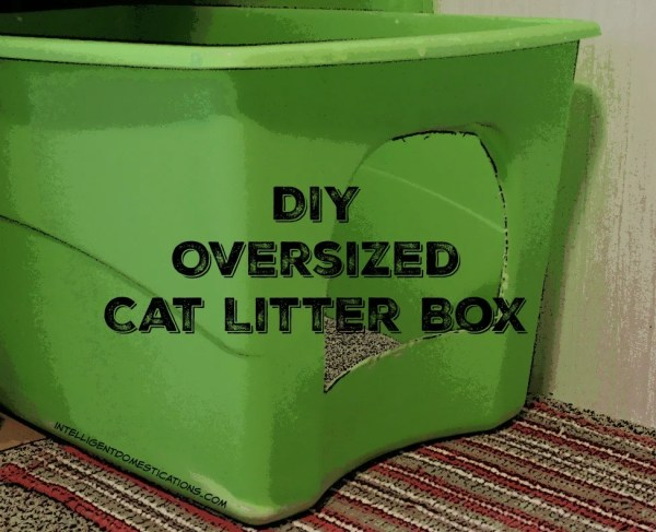 How to Make an Oversized Litter Box for your big cat #diylitterbox #diy