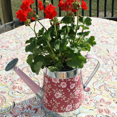 Decorative Watering Can Centerpiece & Easter Budget Craft Hop