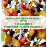 Mandarin Orange Salad with 4 Ingredient Mandarin Orange Dressing recipe at intelligentdomestications.com