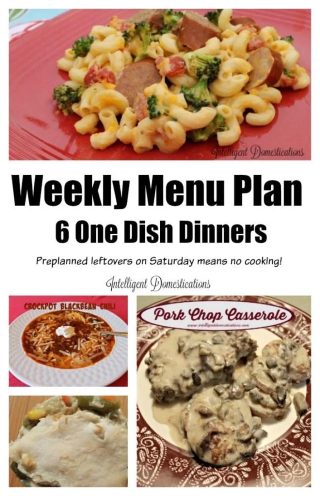 Weeknight Meal Ideas. Six One Dish Dinners