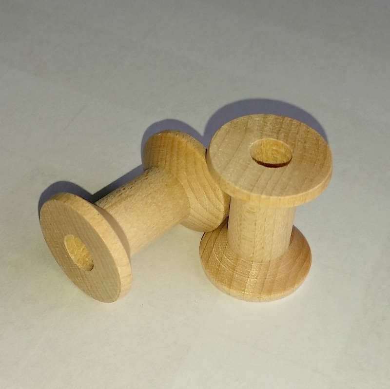 Empty Wooden thread spools