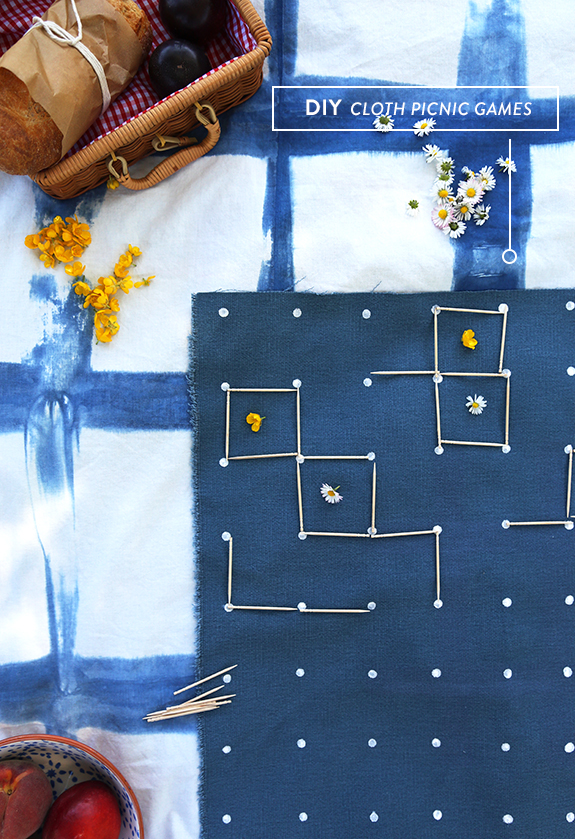 DIY Cloth Pic Nic Games from Say Yes