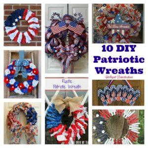 10 DIY Patriotic Wreaths for your front door decor