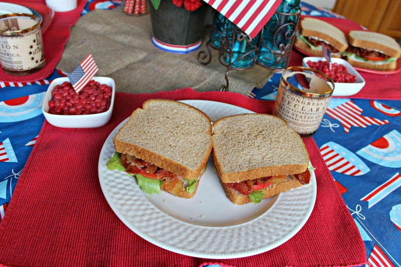 BLT's at the Patriotic dinner table
