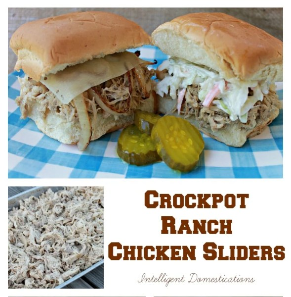 Crockpot Ranch Chicken Sliders