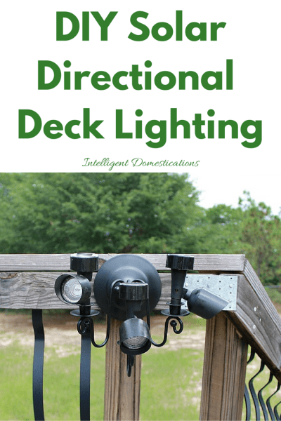 DIY Solar Directional Deck Lighting