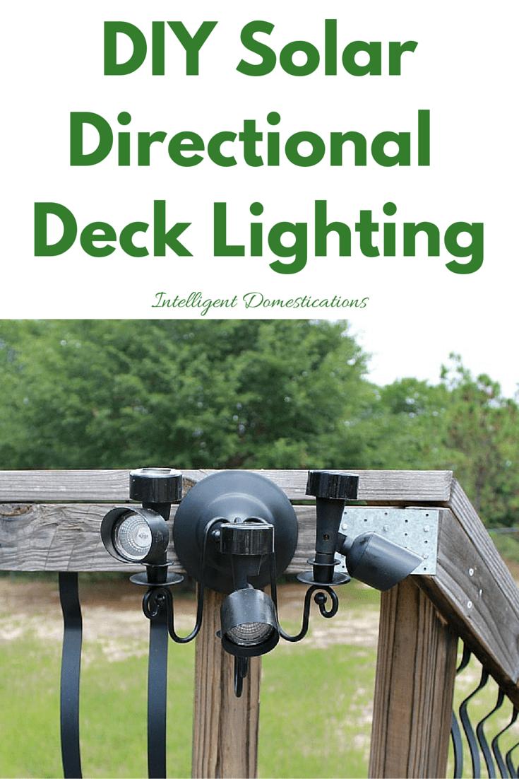 DIYSolarDirectional Deck Lighting