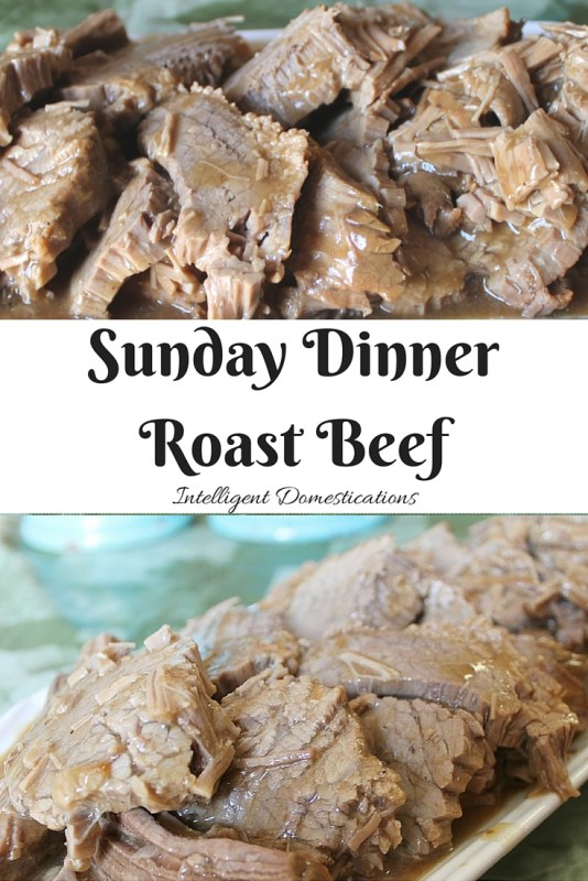 Our Sunday Dinner Roast Beef recipe only has 4 ingredients and is slow cooked to tender juicy perfection