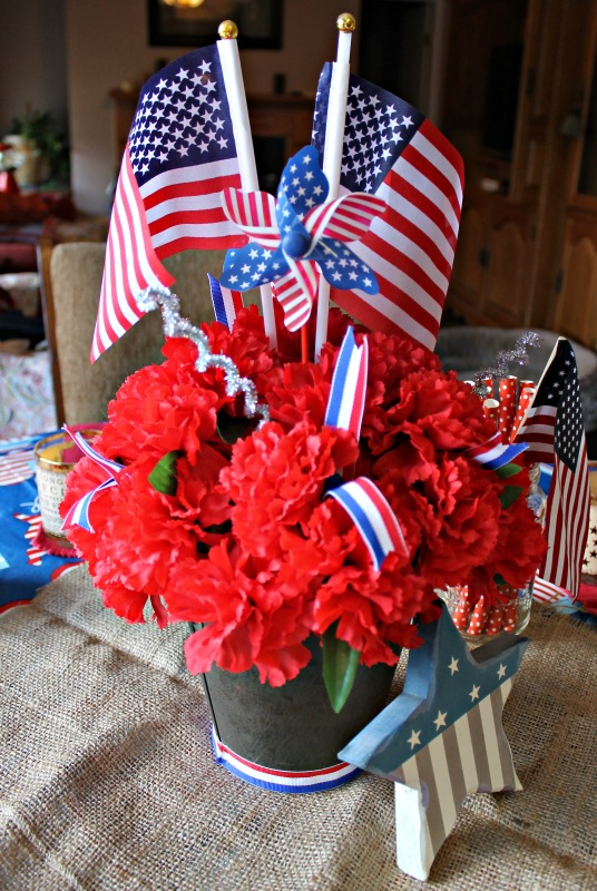 Simple Patriotic Table Decor Intelligent Domestications
