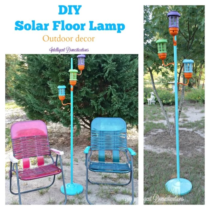 DIY Solar Floor Lamp Outdoor decor