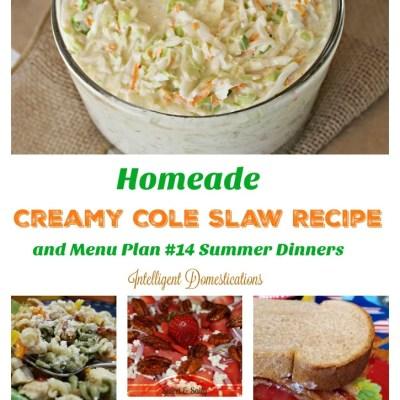 Homemade Creamy Cole Slaw Recipe and Menu Plan #14
