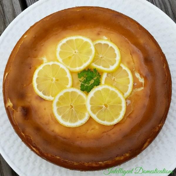 Homemade Lemon Cheesecake recipe