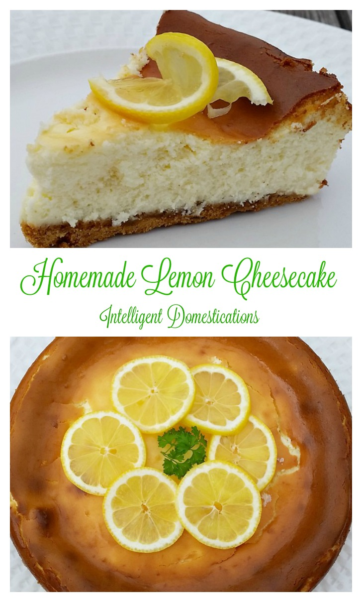Homemade Lemon Cheesecake recipe